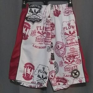 Flow Society Authentic Lacrosse Gear shorts